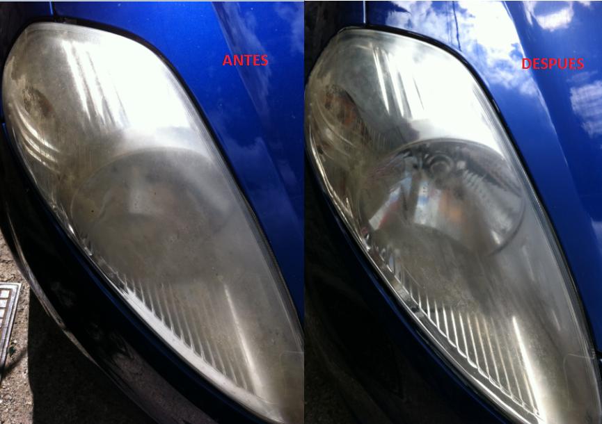 Truco limpia los faros del coche con pasta de dientes - Como pulir faros de coche ...